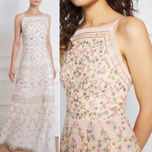 NWOT Needle & Thread Sweet Petal Embroidered Gown